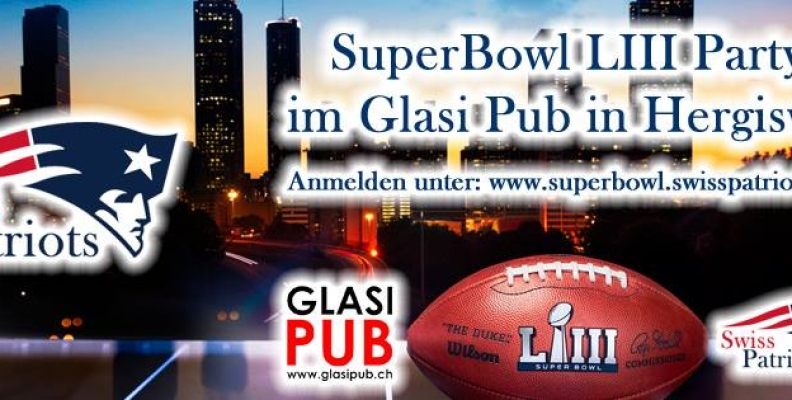 SuperBowl LIII Party im Glasi Pub